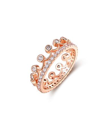 b7f699147 Another great find on #zulily! Rose Gold Princess Crown Ring With  Swarovski® Crystals #zulilyfinds