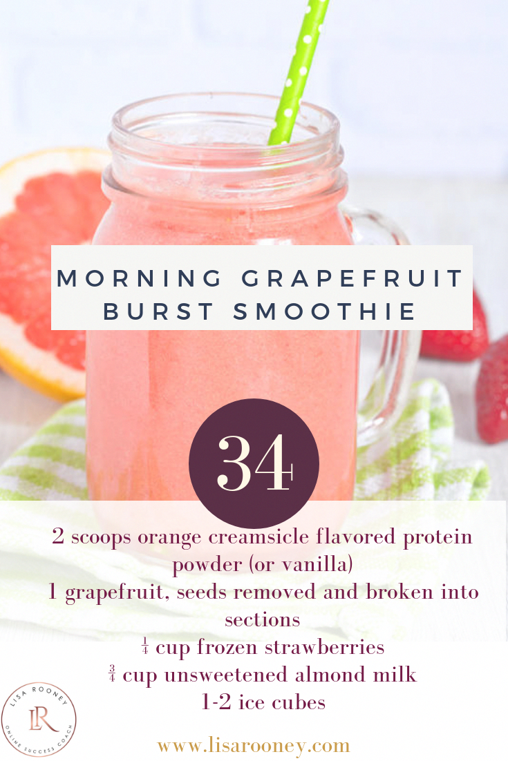 Morning Grapefruit Burst Smoothie for Weight Loss – Carey&CleanEatingS