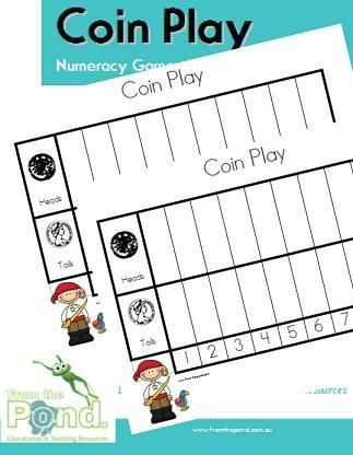 coin play printable pirate game and worksheet kindergarten coins and money pinterest. Black Bedroom Furniture Sets. Home Design Ideas