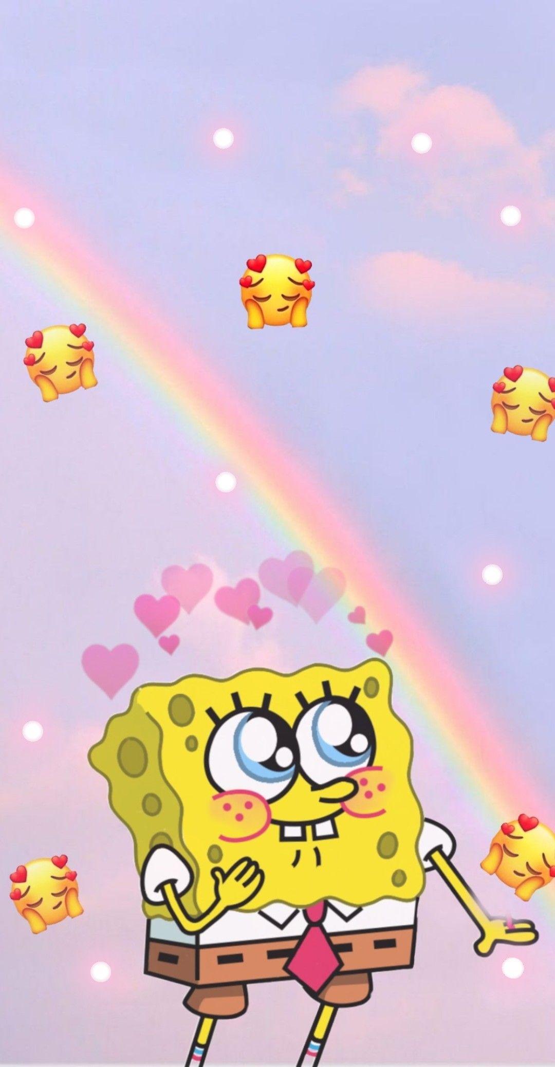 Spongebob In Love Spongebob Wallpaper Spongebob Cute Disney Wallpaper