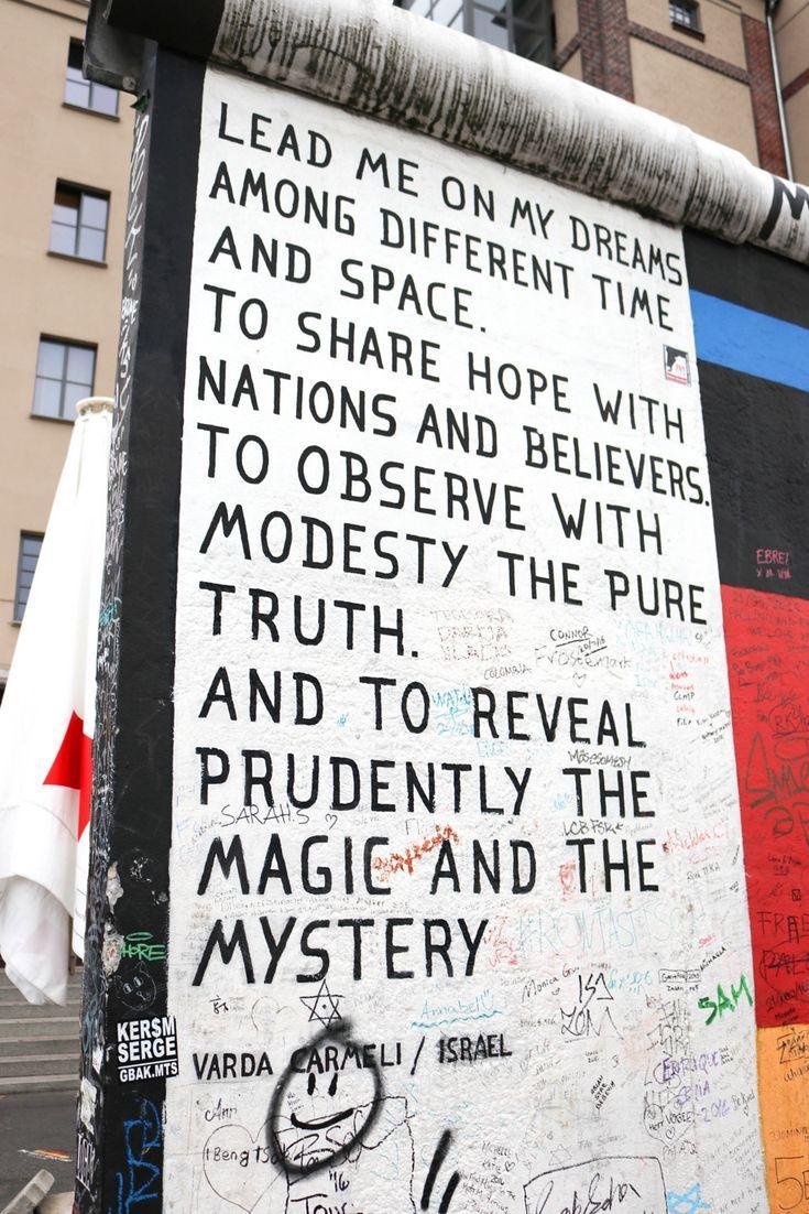 The East Side Gallery Berlin Wall Germany Berlin Quotes Berlin Berlin Wall