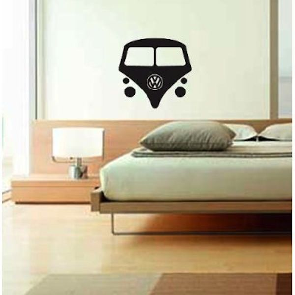 VW Bus Wall Decal It Looks A Little Naked But I Would Put It On - How to put a decal on my wall