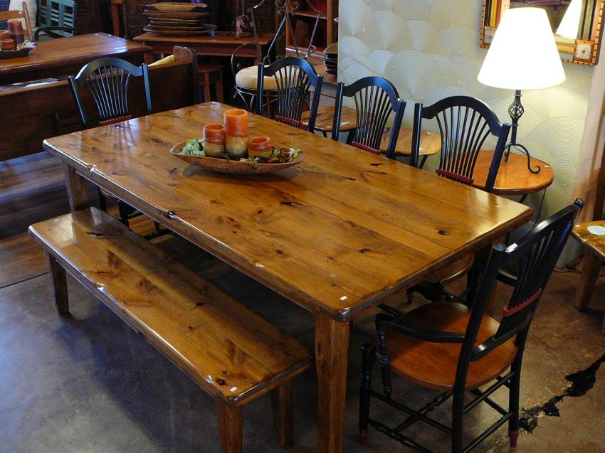 Knotty Alder Table. Knotty AlderDining Table