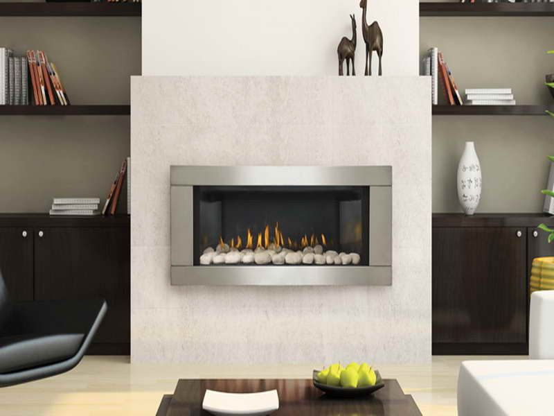 Wall Hung Ventless Fireplaces Gas Contemporary Indoor