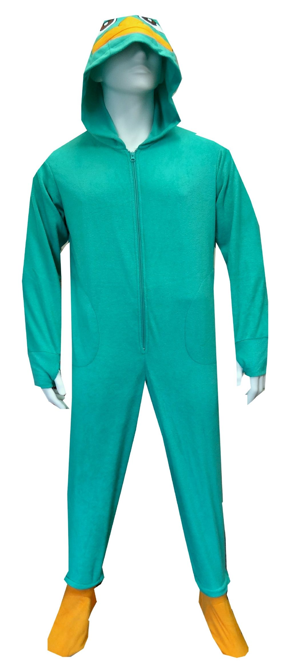 5c1b7e95ee8f Phineas And Ferb Perry The Platypus Footie Pajamas with Hood for adults.  Yeah