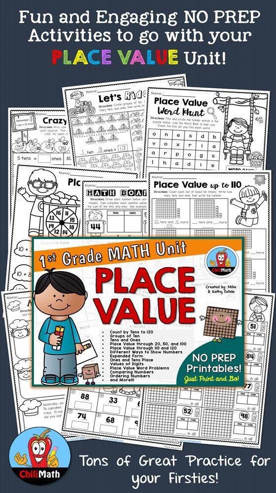 First Grade Math Unit {Place Value} Pinterest Ordering numbers - place value unit