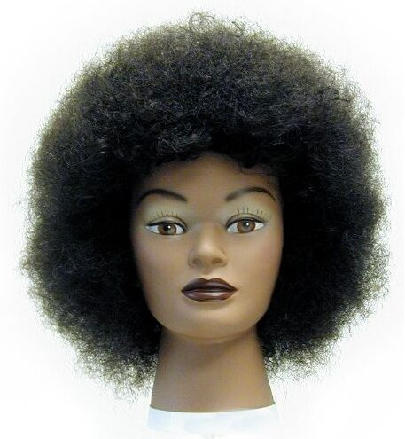Afro American African American Haircut Mannequin Head Training