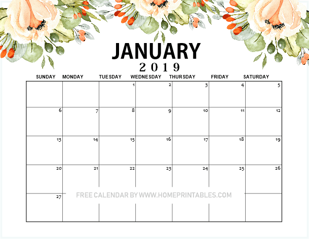 photograph about School Calendar -16 Printable identified as January 2019 Calendar Printable : 10+1 Patterns for Cost-free