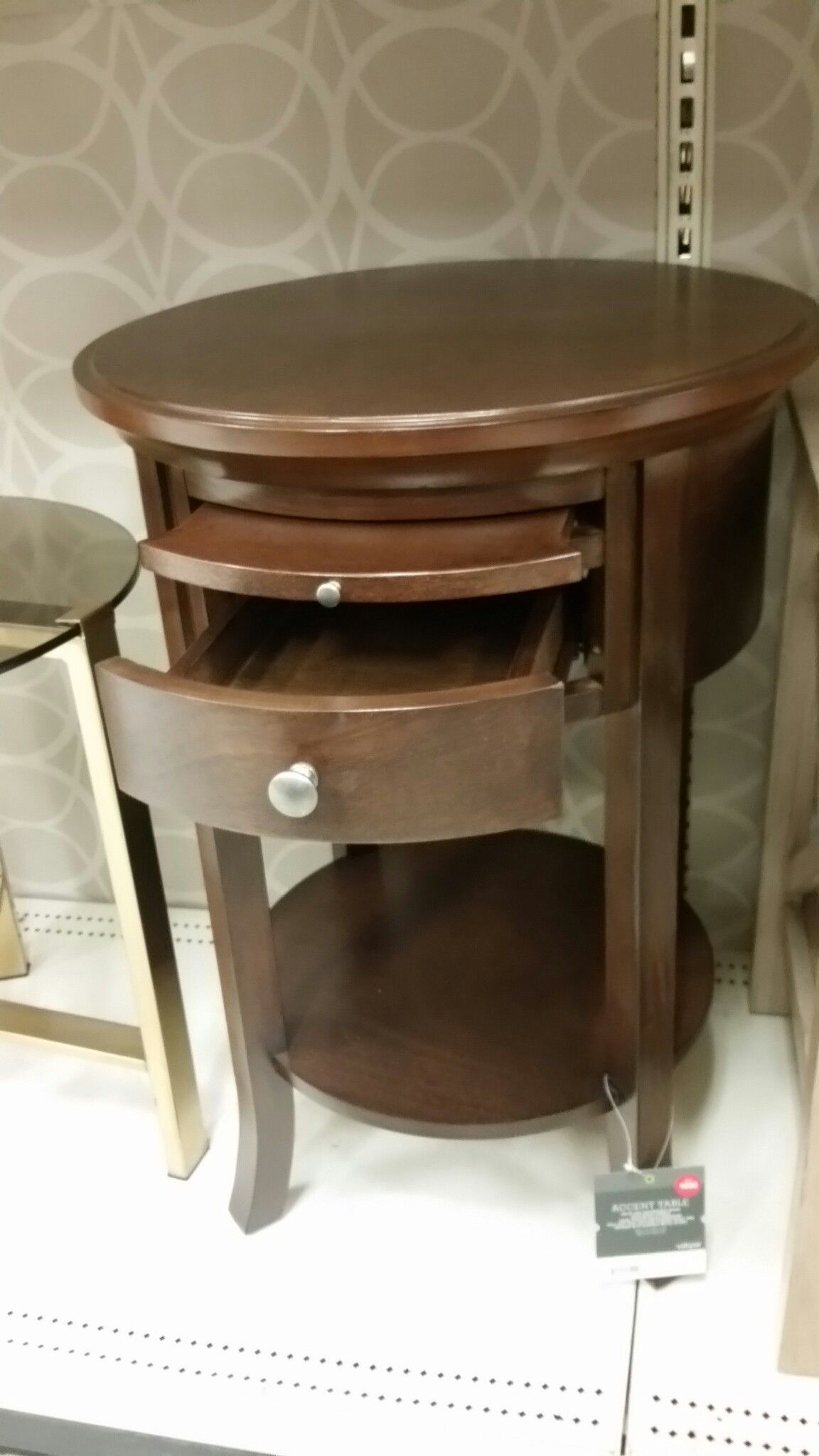 Round nighstand with drawer & coffee lip Target 85