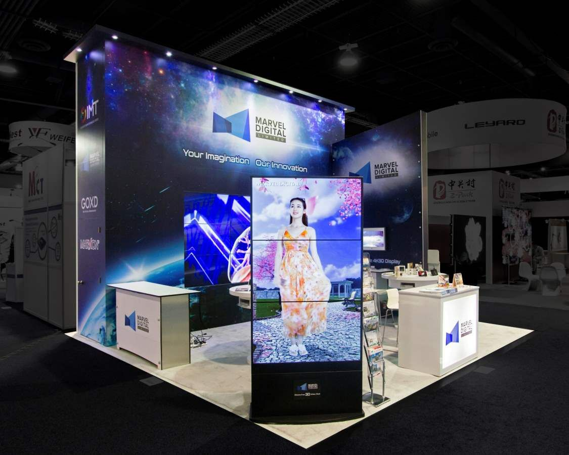 Exhibition Booth Design Las Vegas : A compact retail floor with an impactful display booth