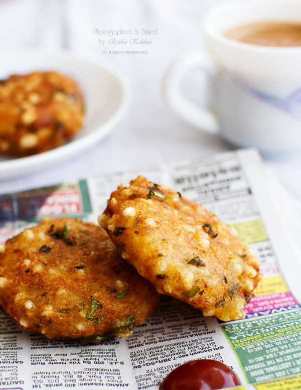 Sabudana Vada Recipe : A Crispy Snack for a rainy day #vegan #rainyday