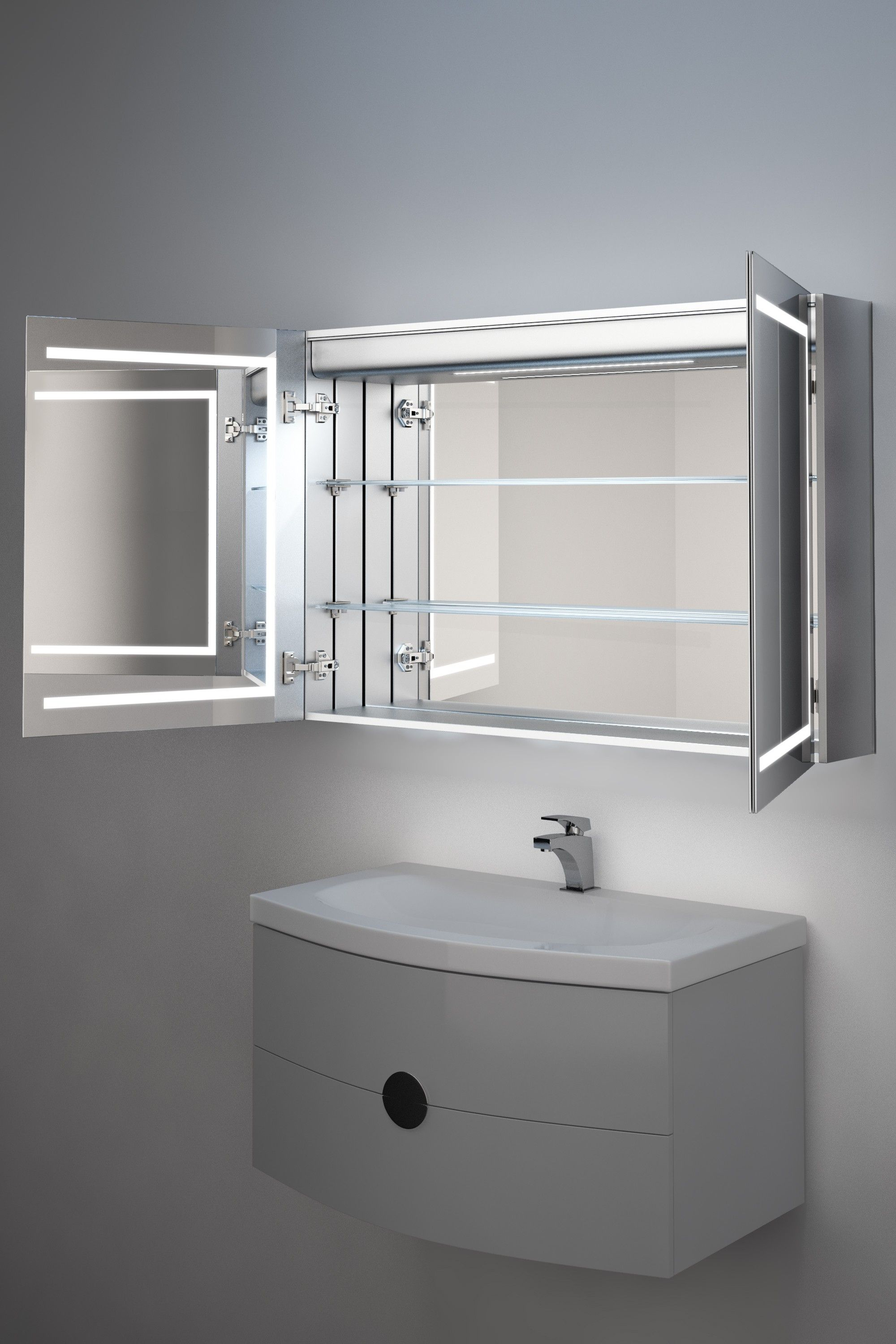 35++ Bathroom cabinets with heated mirror inspiration