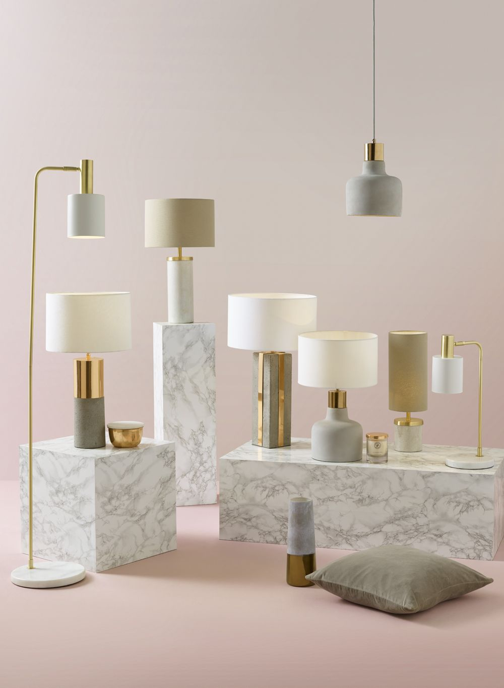 all of the lights concrete marble and brass interior pinterest rh pinterest com
