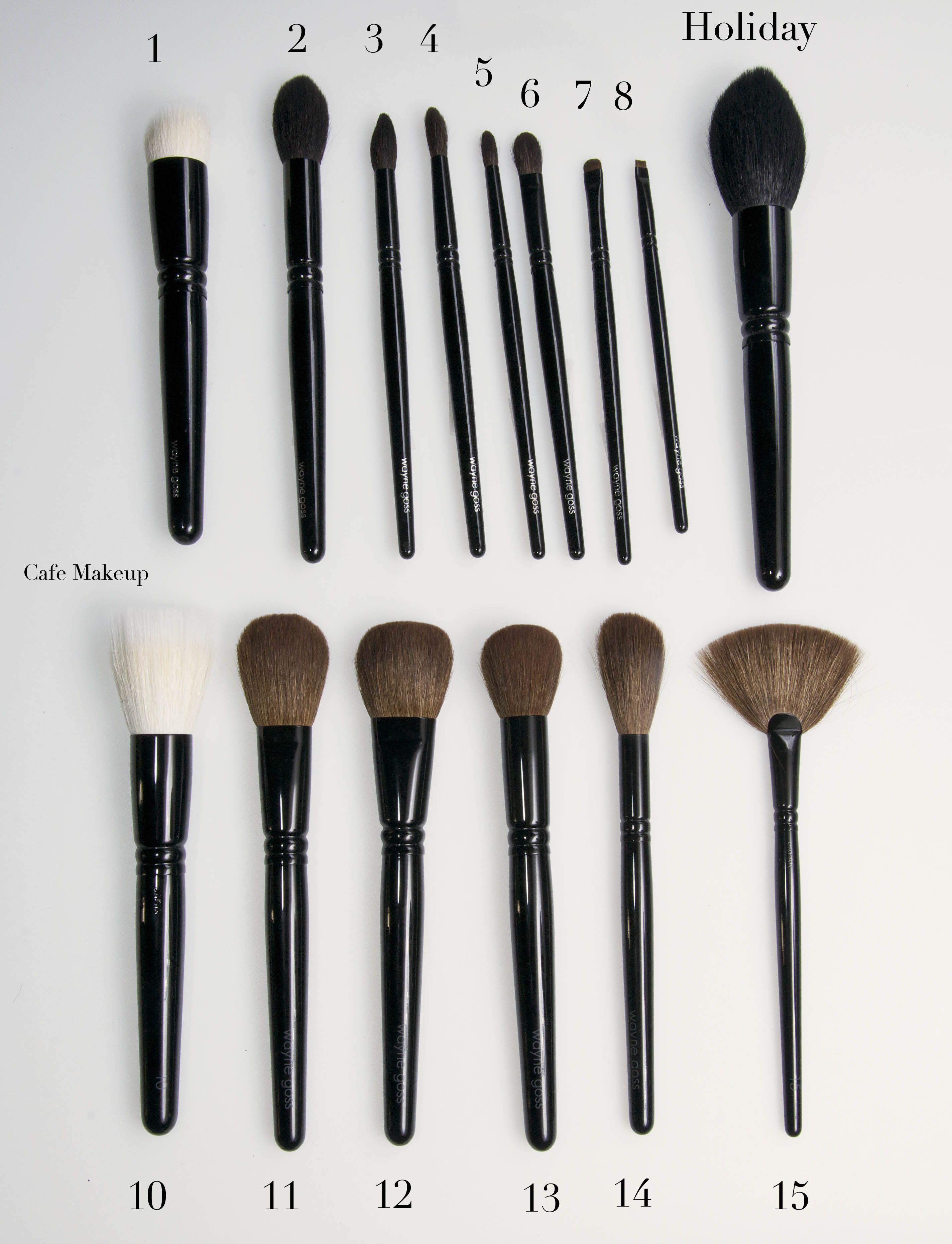 Wayne Goss Face Brush Set Eye makeup brushes set, Eye