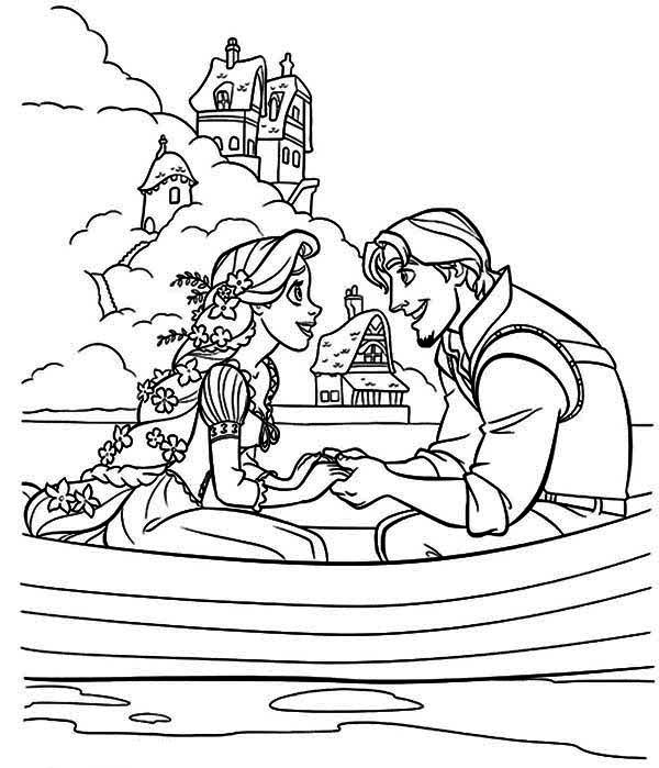 Coloring Pages To Print Out Disney : Rapunzel flynn tangled coloring pages pinterest