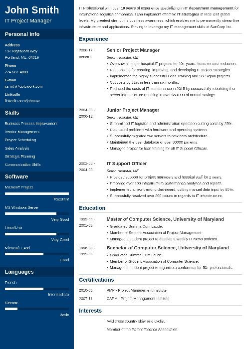 Best 2017 resume template Objects Pinterest Professional