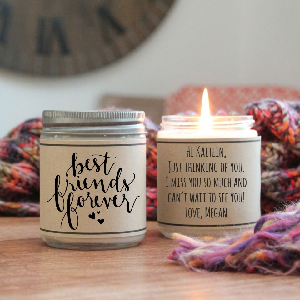 Wedding Gift For Friend Who Has Everything: Personalized Candles For Every Occasion From Hello You