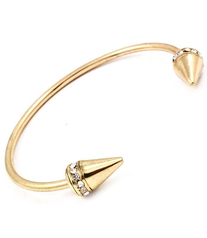 double spike rhinestone bracelet