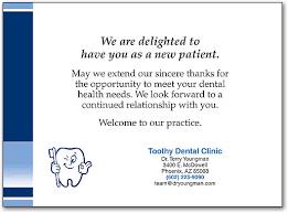 Image result for dental office thank you for referral dental image result for dental office thank you for referral dental patient notes letters pinterest dental expocarfo Images