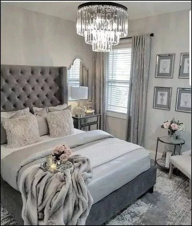 65 Exquisitely Admirable Modern French Bedroom Ideas To Steal 36 Home Design Ideas Grey Bedroom Decor Luxurious Bedrooms Bedroom Decor