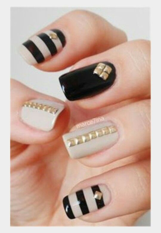 Explore Studded Nails, Nailed It, and more! - Pin By Eboni-Shabre On I Heart Nail Art Pinterest