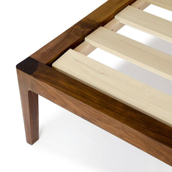 Walnut Platform Bed No. 1 - Modern Wood Bed Frame - Twin, Full ...