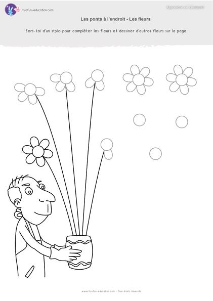 35 pdf fiche maternelle gs graphisme ponts fleurs a imprimer kil math education et spring - Coloriage fleur gs ...