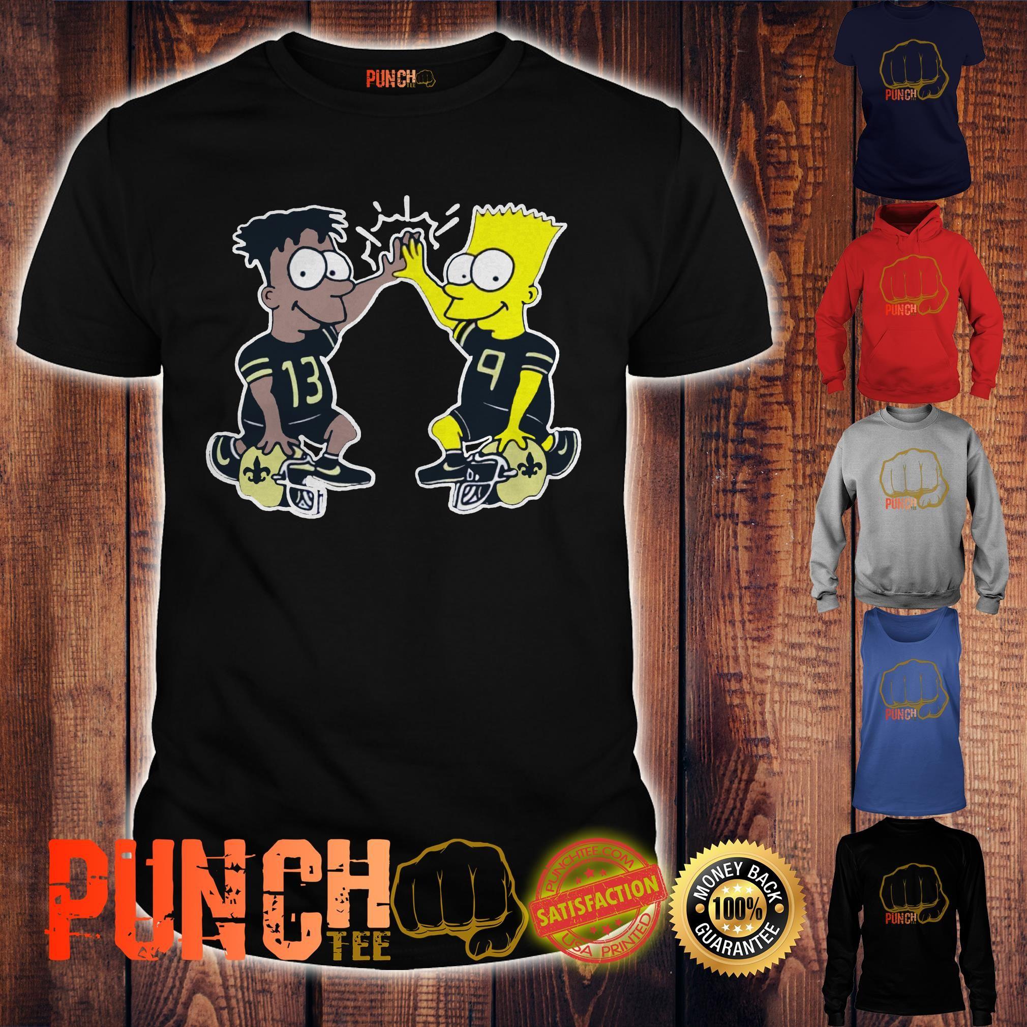 5233ceb1 New Orleans Saints Michael Thomas Simpsons Dynamic Duo shirt ...