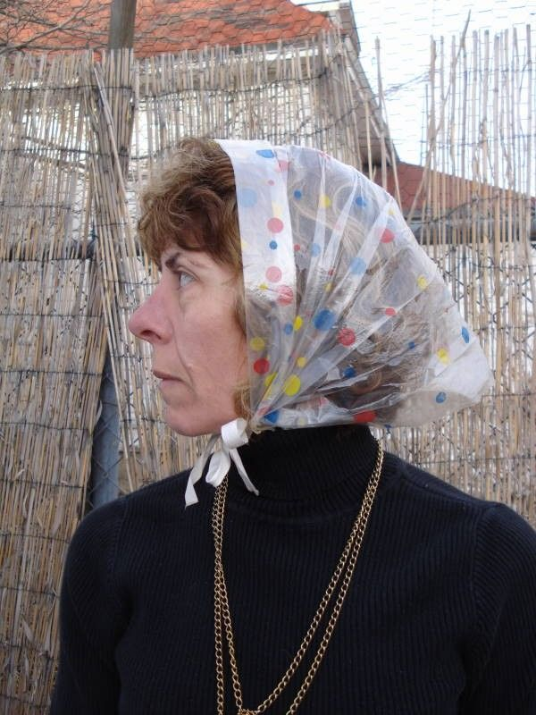 Vintage rain bonnet  ) My mother always wore one. I used pretend I did not  know her when she had it on. 47a407511e1d