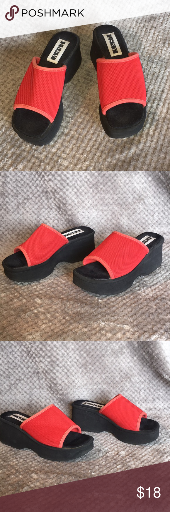 cc06cea4ac964 Wedge Loafers · Esny Platform Red Sandals No Sz Very Comfortable Long  Wearing Summer Shoes Cool Easy Fit Sandals