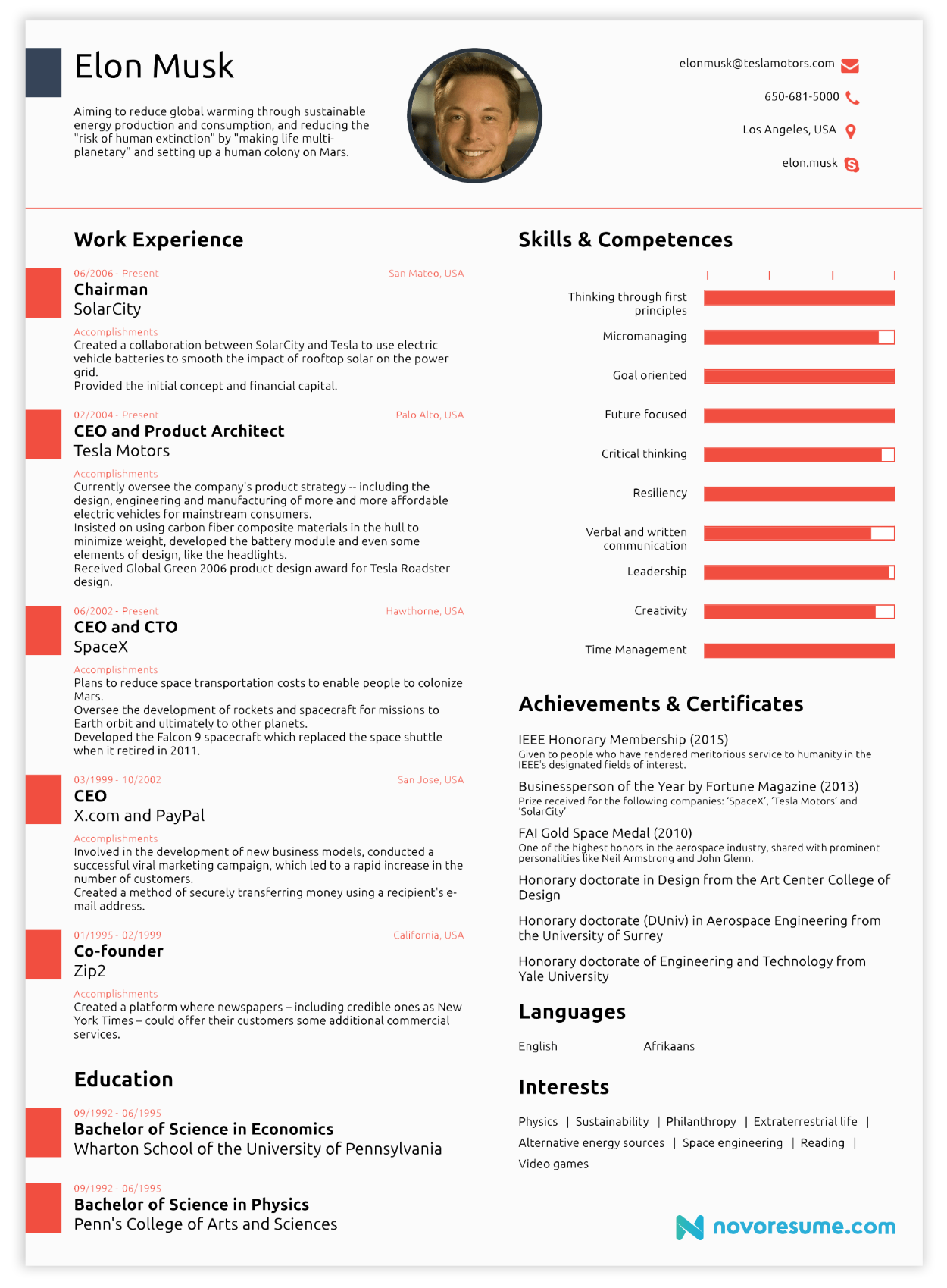 elon musk resume resume pinterest elon musk resume ideas and