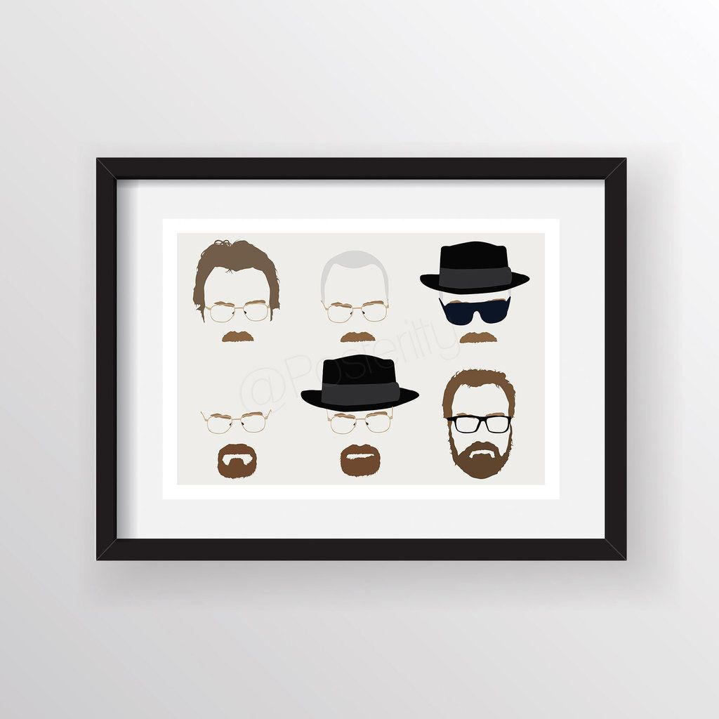 Breaking bad minimal walter heads by posteritty creativeuseful breaking bad minimal walter heads by posteritty jeuxipadfo Choice Image