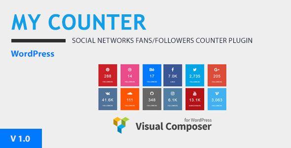 MYCounter Visual Composer Addon & WordPress Widget