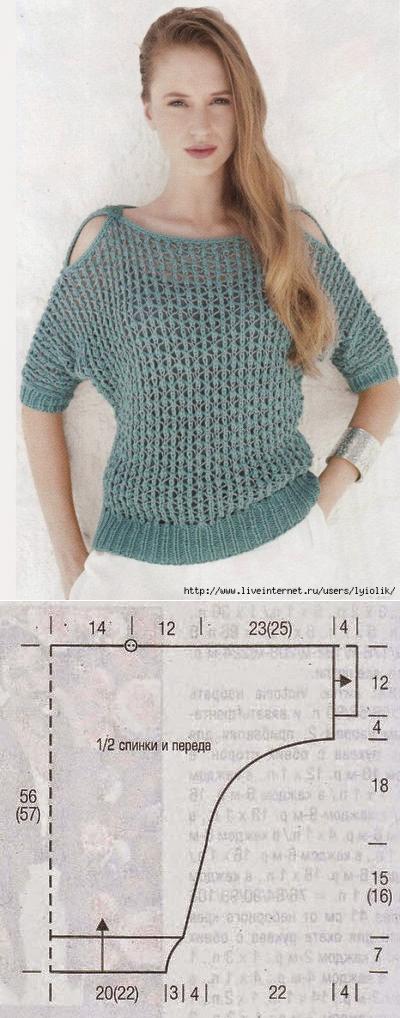 машинное вязание | Tejido, Blusas y Blusas tejidas