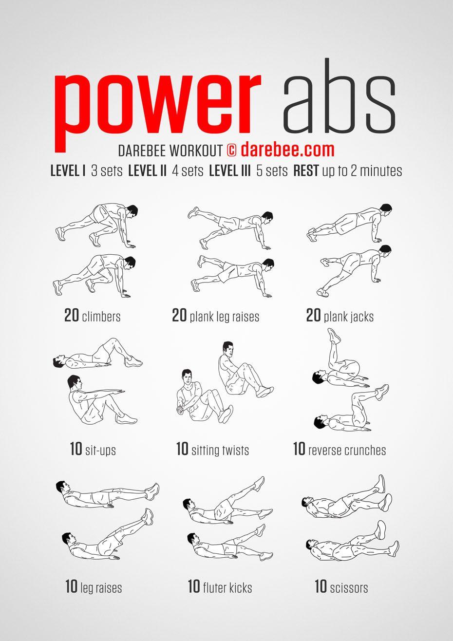 Power abs darebee workout ab workouts pinterest