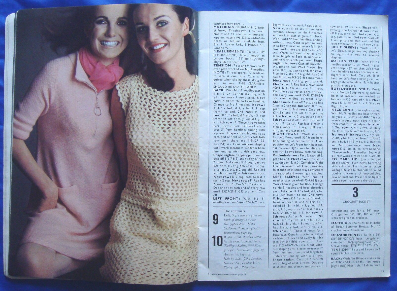 vintage VOGUE KNITTING pattern booklet book 1960\'s jumper/cardigan ...