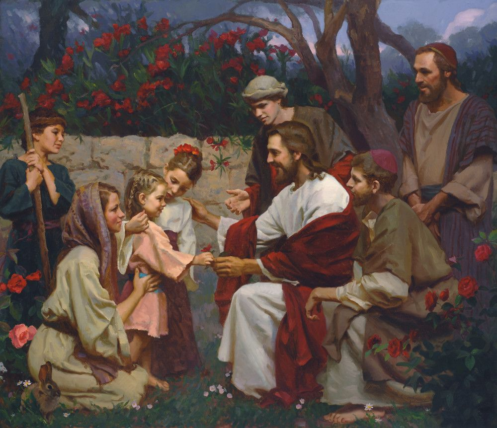 Suffer the Little Children | Jesus christ painting, Spiritual paintings,  Malm