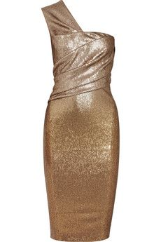 Donna Karan One-shoulder sequined dress | THE OUTNET - http://www.theoutnet.com/en-IT/product/Donna-Karan/One-shoulder-sequined-dress/543101
