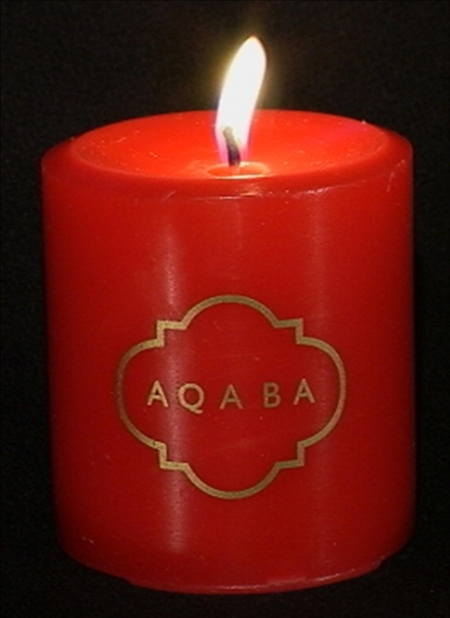 "AQABA CANDLE: 3.25""/7.62cm AQABA Classic fragranced candle. AQABA scent lingers throughout..."