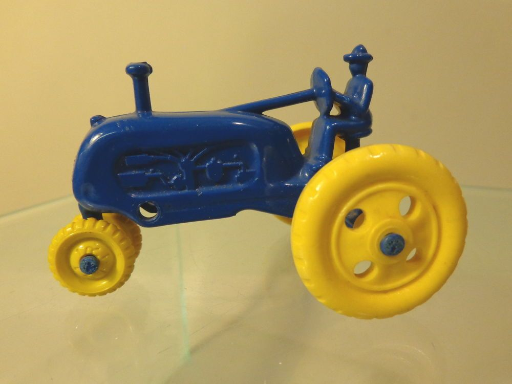 MARX BLUE TRACTOR FLATCAR LOAD OR PLAYSET O-GAUGE #X5218 #Marx