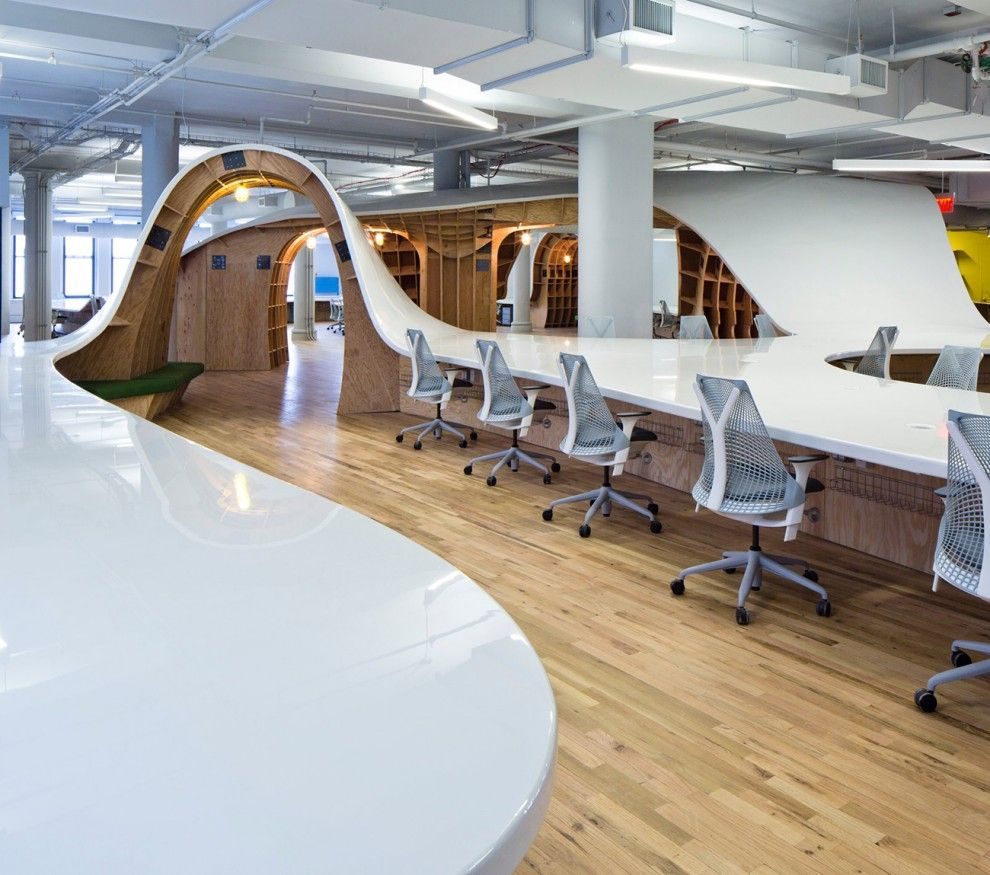 superdesk 1 bureau de l agence de communication new yorkaise the barbarian group clive wilkinson architects