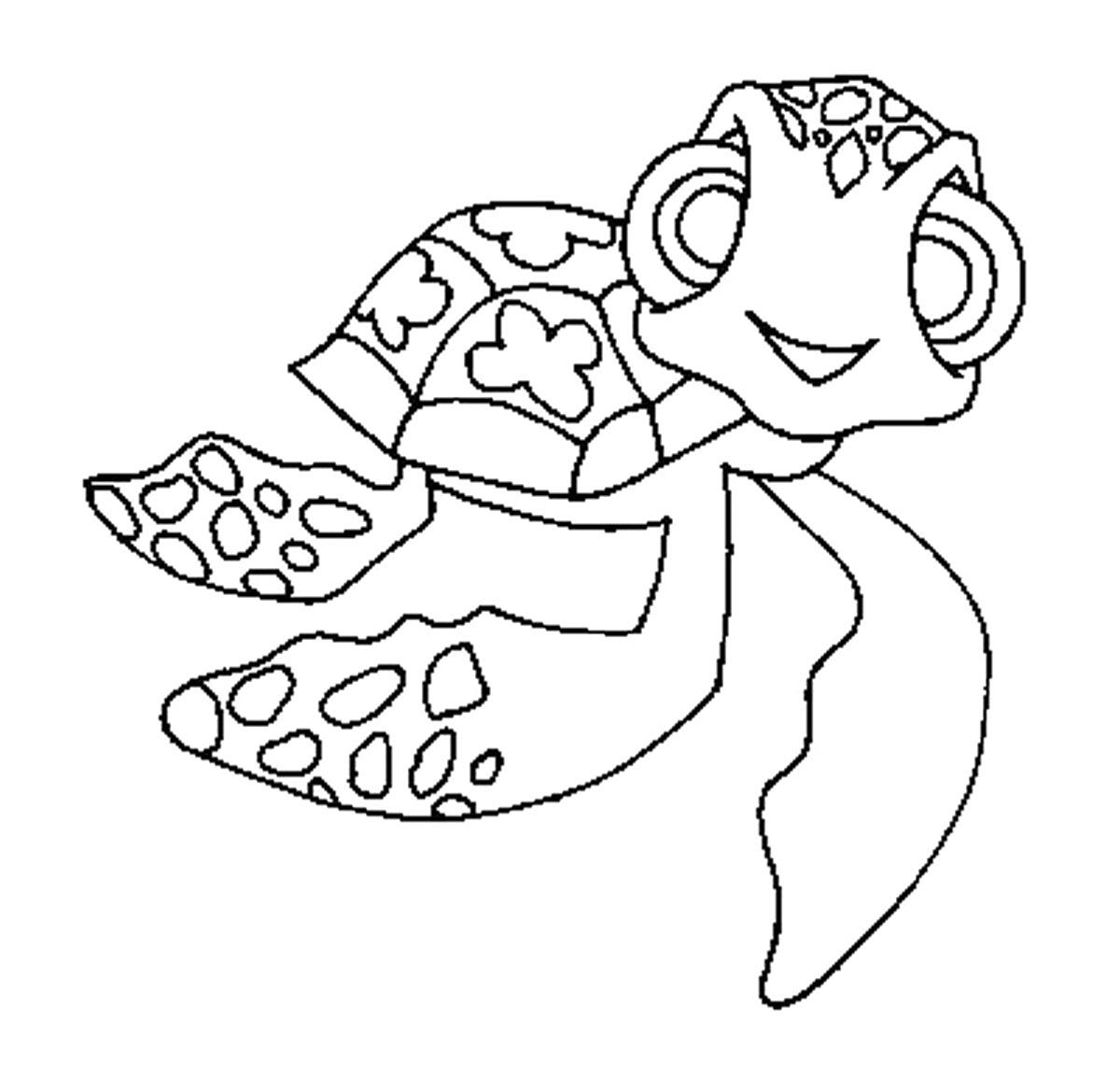 Turtle Very Unique Coloring Page
