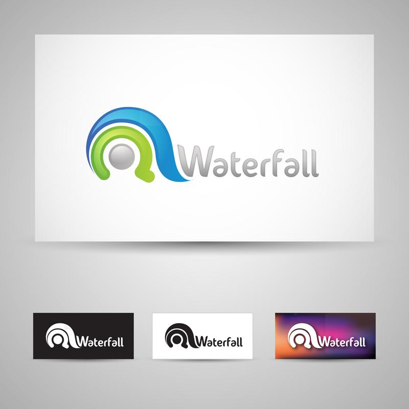 Waterfall By Bebecca On Deviantart Waterfall Tech Logos School Logos