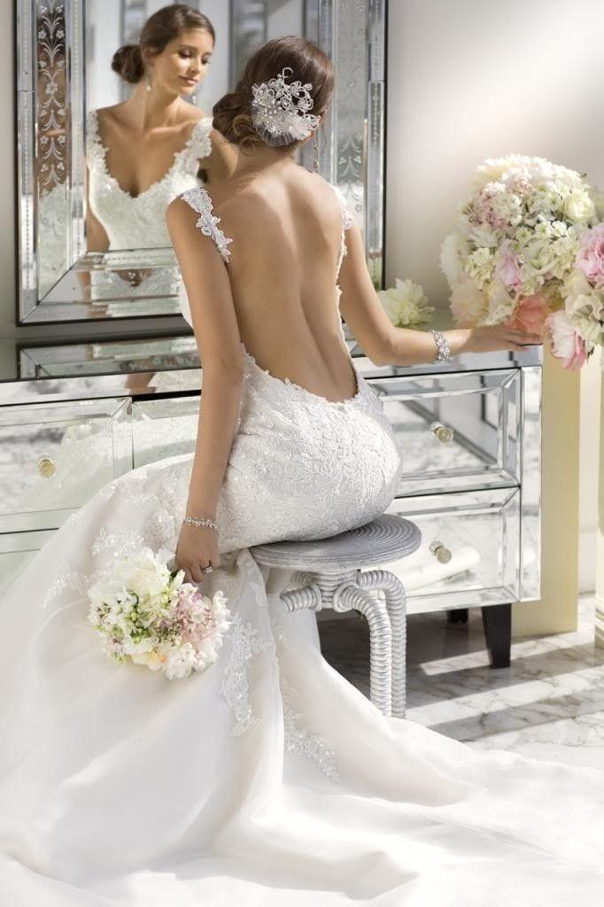 robe de mariée dos nu plongeant