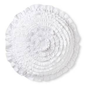 Simply Shabby Chic® Petticoat Decorative Pillow - White (Round) : Target