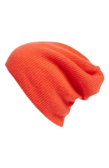 4a0cdaf74ef Free shipping and returns on Halogen® Slouchy Cashmere Beanie at  Nordstrom.com. A ribbed knit furthers the casual elegance of a versatile