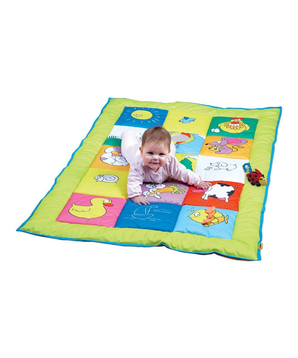 Look at this #zulilyfind! Double-Sided Baby Mat by Edushape #zulilyfinds