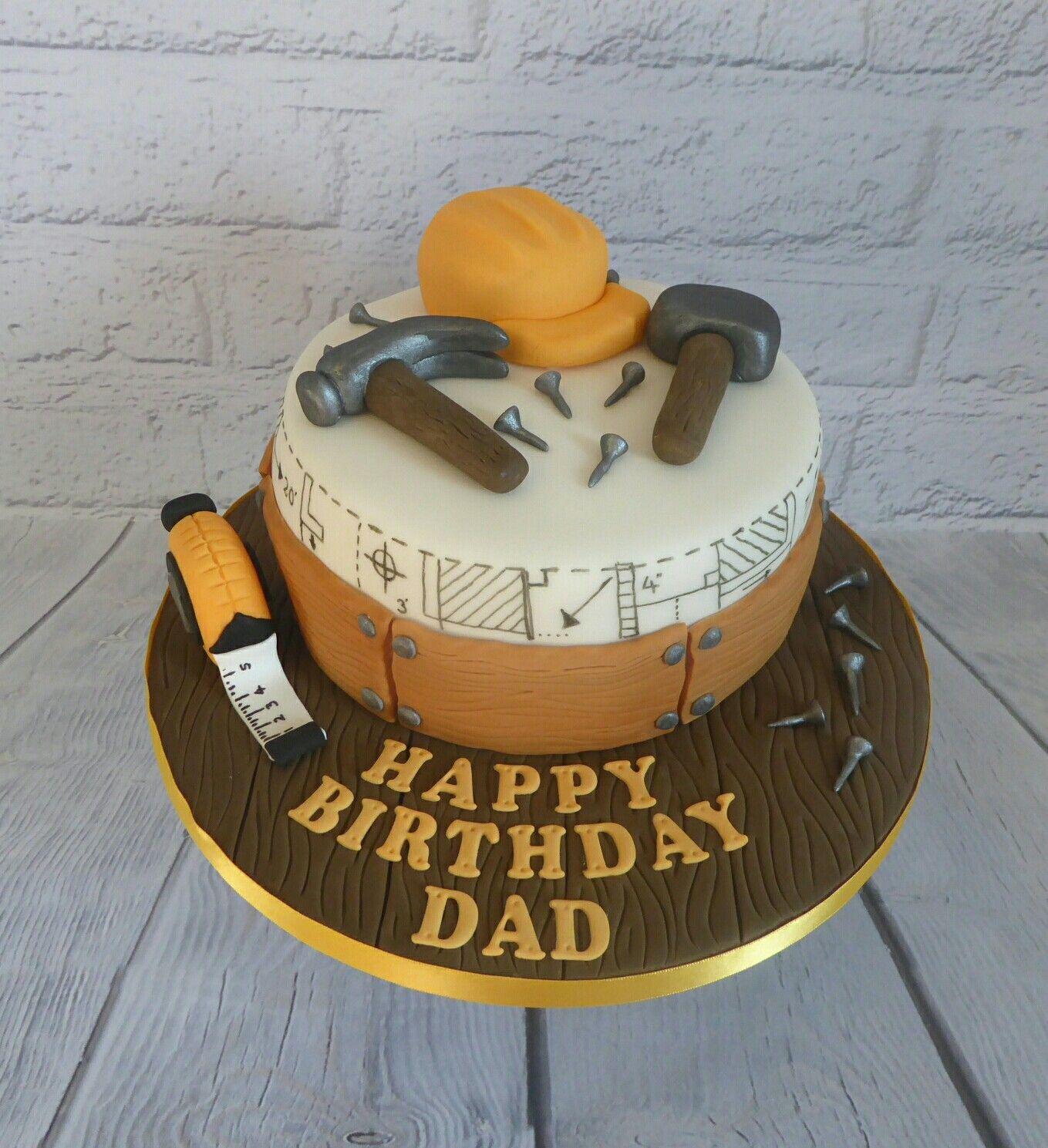 Builders themed birthday cake birthday cakes for men