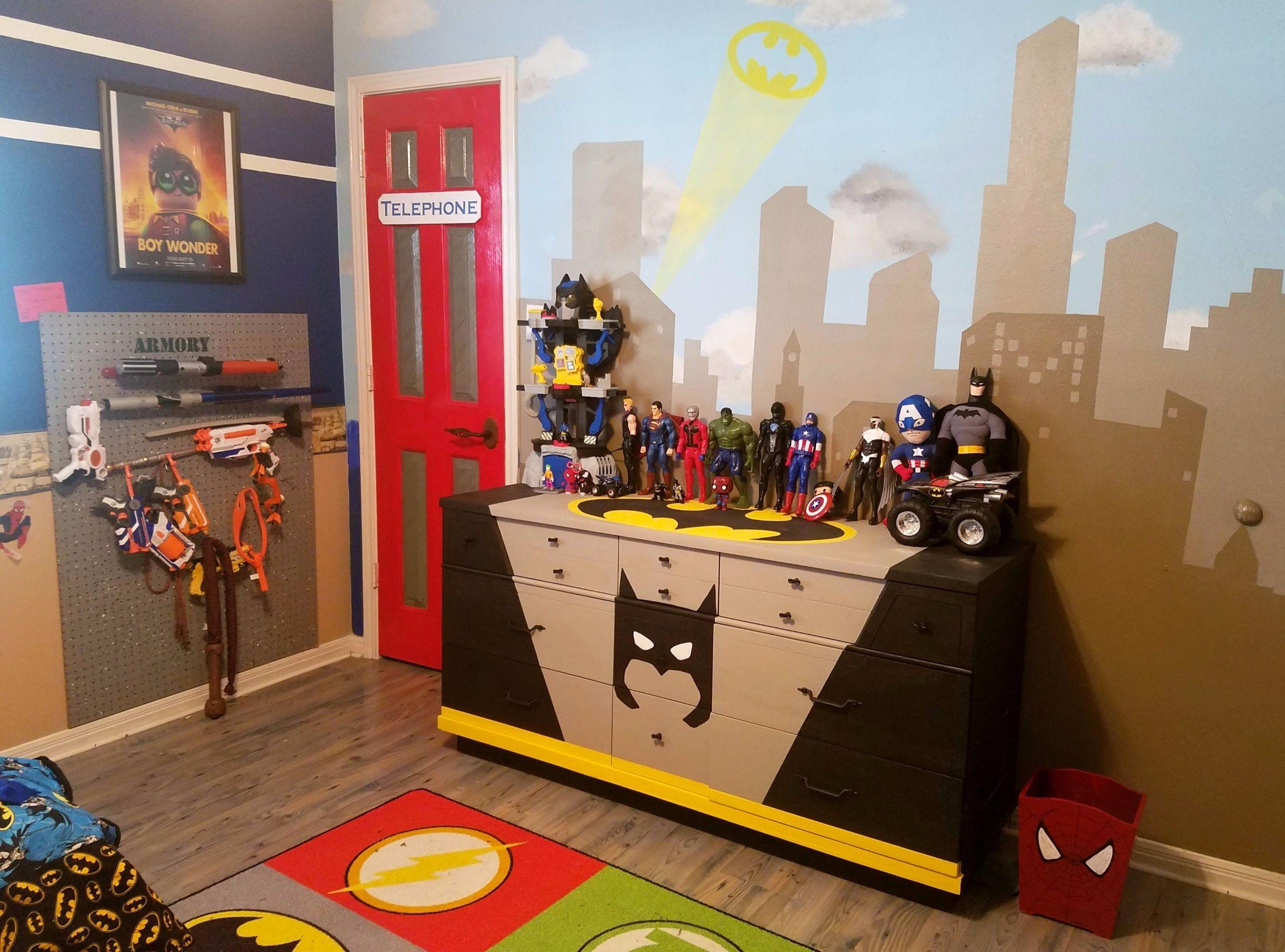 Superhero Room Makeover Superhero Room Superhero Nursery
