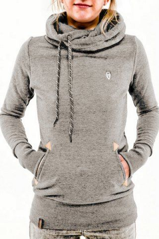 97957f952 Drawstring Pocket Design Embroidered Hoodie in 2019 | stitch fix ...
